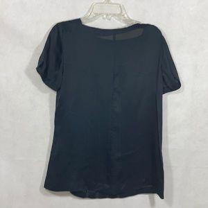 Pre-loved - Trina Turk women's black silk top.